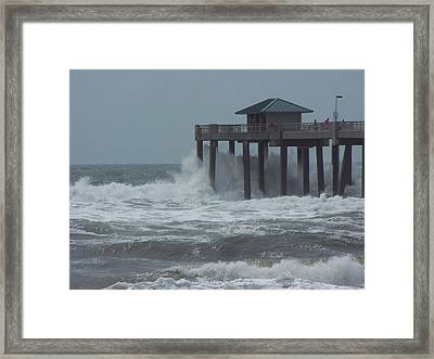 Framed Print featuring the photograph Hurricane Rita by Michele Kaiser