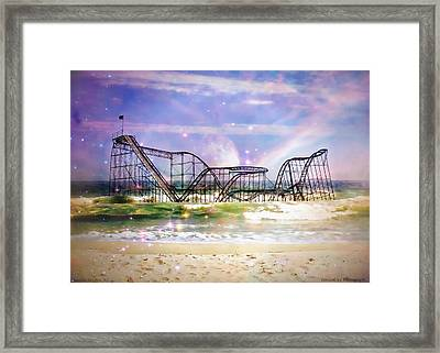 Hurricane Sandy Jetstar Roller Coaster Fantasy Framed Print by Jessica Cirz
