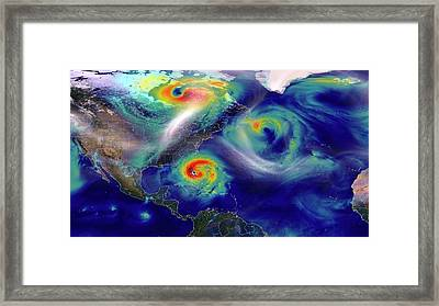Hurricane Sandy Simulation Framed Print