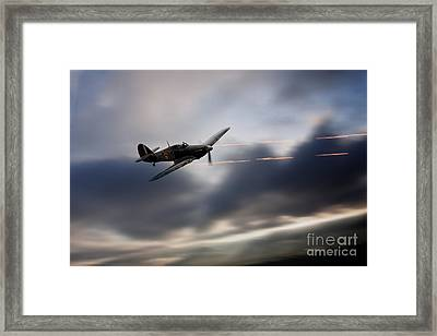Hurricane Sting  Framed Print by J Biggadike