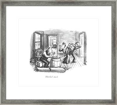 Hurried Snack Framed Print by William Steig