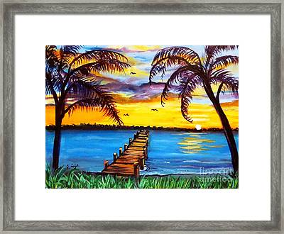 Framed Print featuring the painting Hurry Sundown by Ecinja Art Works