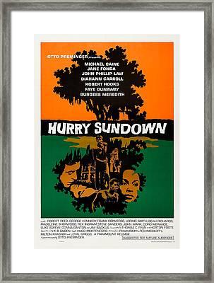 Hurry Sundown, Us Poster Art, Michael Framed Print by Everett