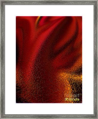 Hurt Feelings - Abstract Art By Giada Rossi Framed Print by Giada Rossi