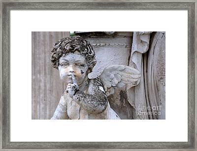 Hush Little Angel Framed Print