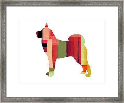 Husky Framed Print by Naxart Studio