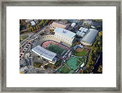 Husky Stadium Framed Print by Georgia Fowler