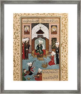 Hussein Baikara 1469-1506. The Sultan Framed Print by Everett