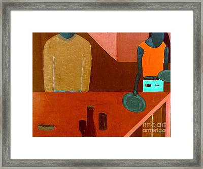 Framed Print featuring the painting Hussongs Cantina Baja by Bill OConnor