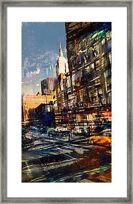 Hustle Bustle Framed Print by Russell Pierce
