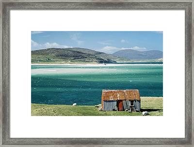 Hut On West Coast Of Isle Framed Print by Rob Penn