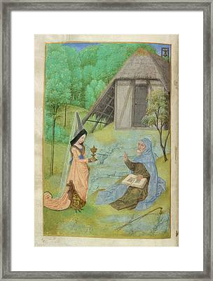 Huth Hours Framed Print by British Library