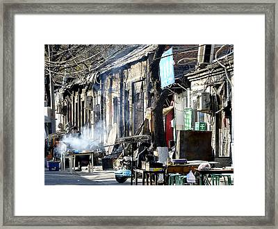 Hutong In Beijing China Framed Print