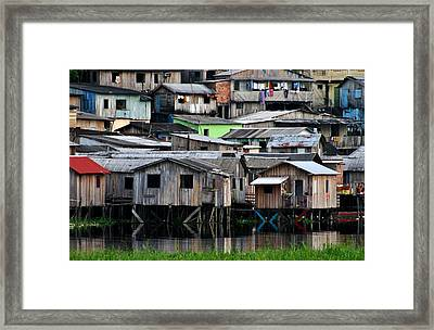 Framed Print featuring the photograph Huts by Henry Kowalski