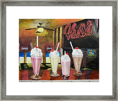 Hut's Milkshake Heaven Framed Print