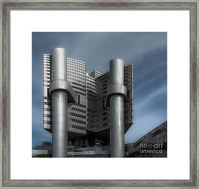 Hvb Building Framed Print by Hannes Cmarits