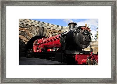 Hogwarts Express Train Work A Framed Print by David Lee Thompson