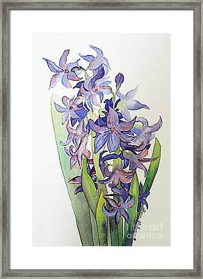 Framed Print featuring the painting Hyacinthus by Shirin Shahram Badie