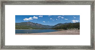 Framed Print featuring the photograph Hyalite Reservoir -- East View by Charles Kozierok