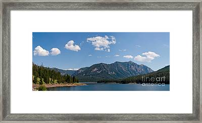 Framed Print featuring the photograph Hyalite Reservoir -- South View by Charles Kozierok