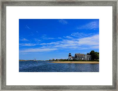 Framed Print featuring the photograph Hyannis Harbor by Amazing Jules