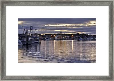 Hyannis Sunset Framed Print by Karin Pinkham