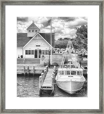 Hyannis The Coastguard's Cutter Framed Print