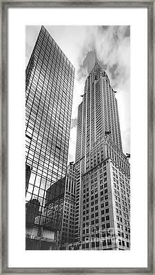 Hyatt And Chrysler Framed Print by David Bearden