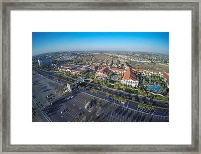 Hyatt Huntington Beach Framed Print by Creative Dog Media