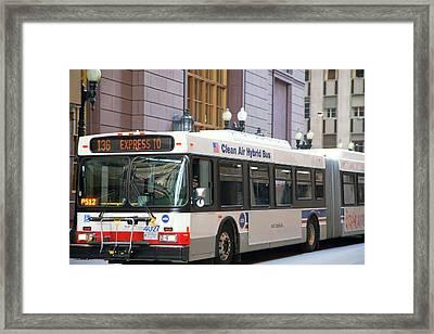Hybrid Bus Framed Print by Jim West