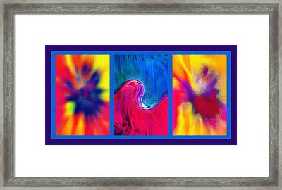 Hychilu Abstracts Triptych Framed Print