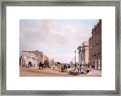 Hyde Park Corner, Looking Framed Print