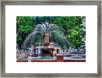 Hyde Park Fountain Framed Print by Kaye Menner