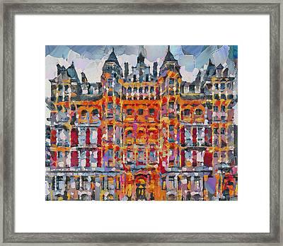 Hyde Park Hilton London Framed Print