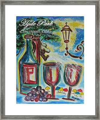 Hyde Park Square - Cincinnati Ohio Framed Print