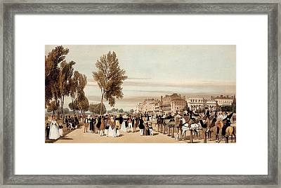 Hyde Park, Towards The Grosvenor Gate Framed Print