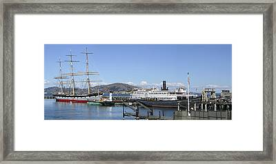 Hyde Street Pier - San Francisco Framed Print by Daniel Hagerman