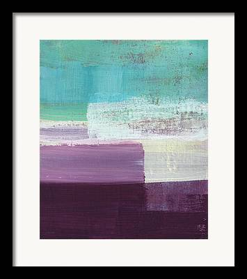 Blue And Purple Abstract Framed Prints