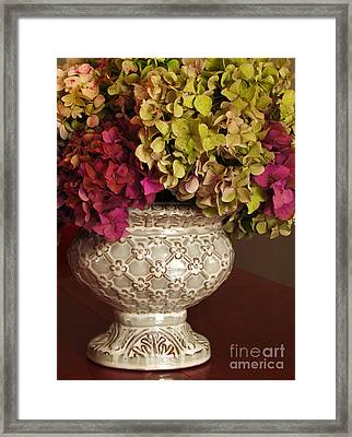 Hydrangea Bouquet   Framed Print by Deborah Johnson