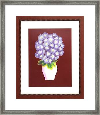 Framed Print featuring the painting Hydrangea by Ron Davidson