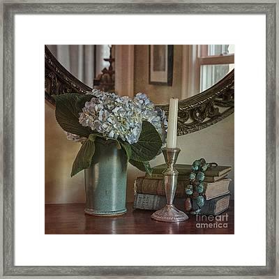 Hydrangea Still-life Framed Print by Terry Rowe