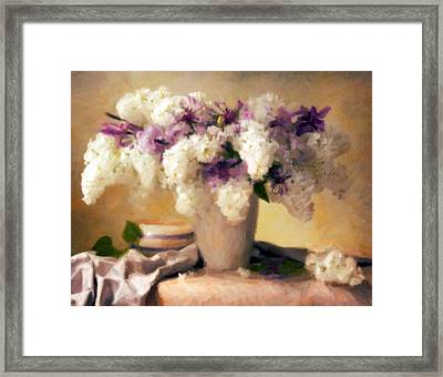 Hydrangea Summer Display Framed Print
