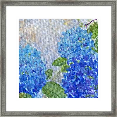 Hydrangeas On A Cloudy Day Framed Print by Arlissa Vaughn