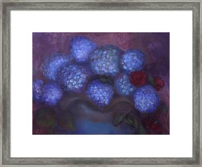 Hydrangeas Framed Print by Susan Hanlon