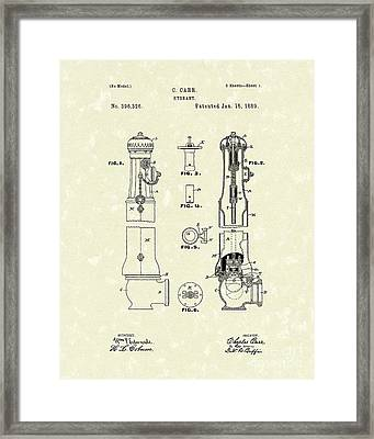 Hydrant 1889 Patent Art Framed Print by Prior Art Design