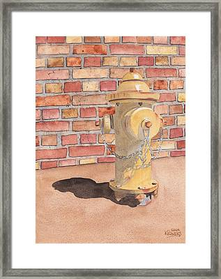 Hydrant Framed Print by Ken Powers
