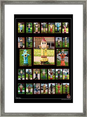 Hydrants Framed Print by Mitchell Brown