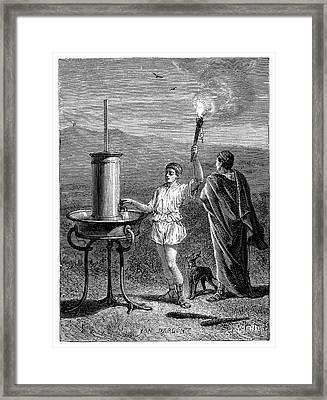 Hydraulic Telegraph Framed Print