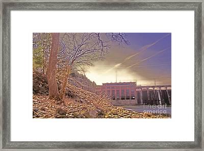 Hydro Electric Dam  N Framed Print by Kristine Nora