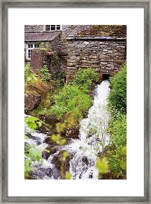 Hydro Electric Turbine House Framed Print by Ashley Cooper